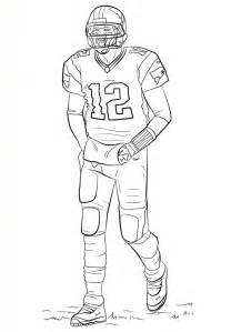 football player coloring pages free printable football coloring pages for best
