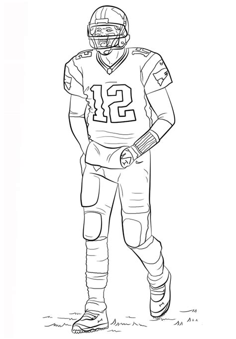 coloring page of a football player free printable football coloring pages for kids best