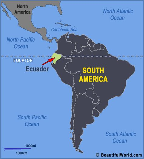 Most Beautiful Places In America by Map Of Ecuador Facts Amp Information Beautiful World