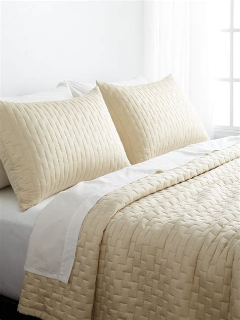 bamboo quilted brick coverlet set shopstyle comforters