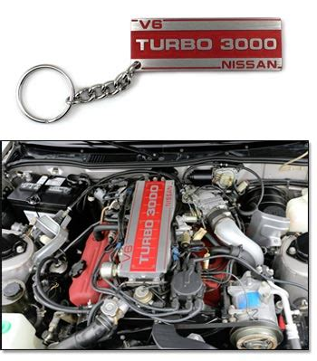 "motorsport! billet aluminum plenum cover key chain, ""turbo"