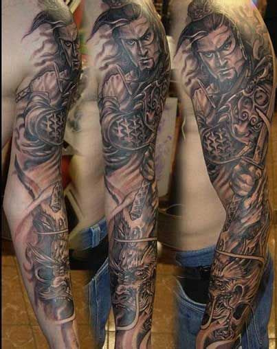 warrior sleeve tattoo designs s samurai sleeve tattoos samurai and