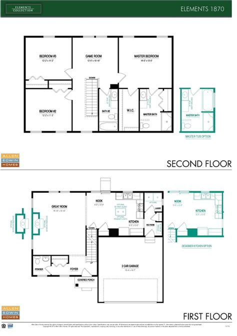floor plan elements long lake village by allen edwin homes the new home experts 174