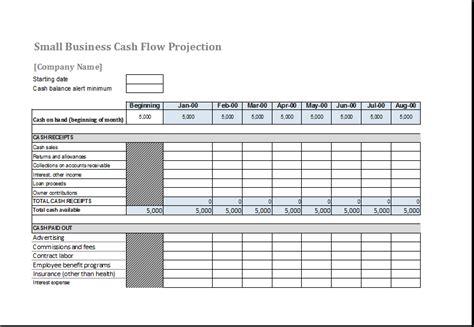 cash flow forecast template  ms excel excel templates