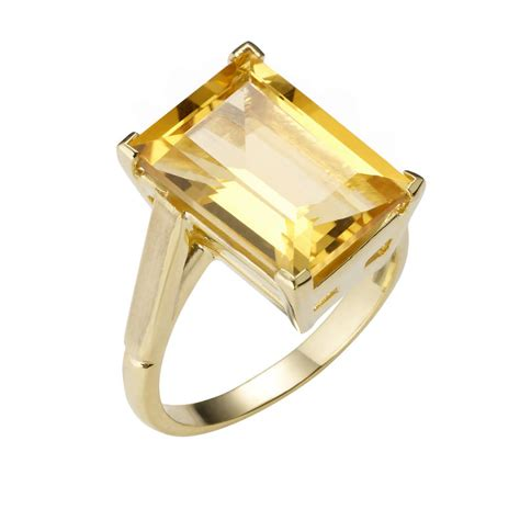 18ct gold vermeil citrine cocktail ring by mills