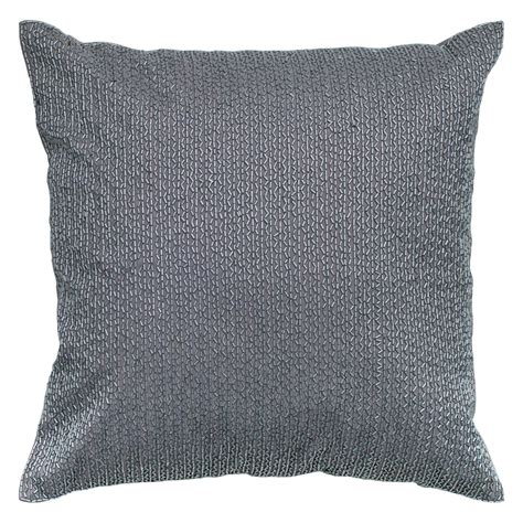Sequin Decorative Pillows by Rizzy Home Gray Beaded Sequin Decorative Throw Pillow