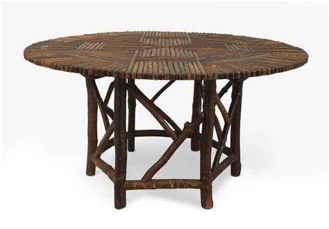 American Furniture Dining Table American Adirondack Style Twig Dining Table At 1stdibs