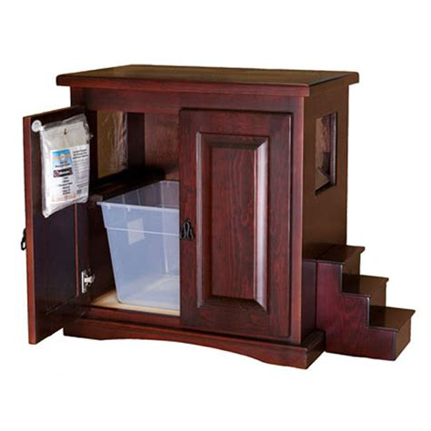 cat litter box cabinet litter box enclosures for cats homesfeed