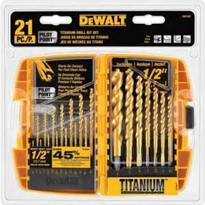 dewalt drill set home depot dewalt titanium pilot point drill bit set 21