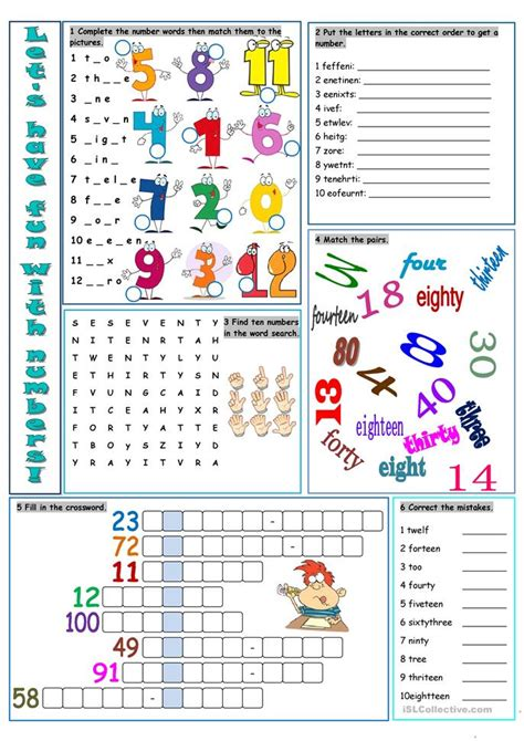 learning english is fun i see colours everywhere let s have fun with numbers worksheet free esl