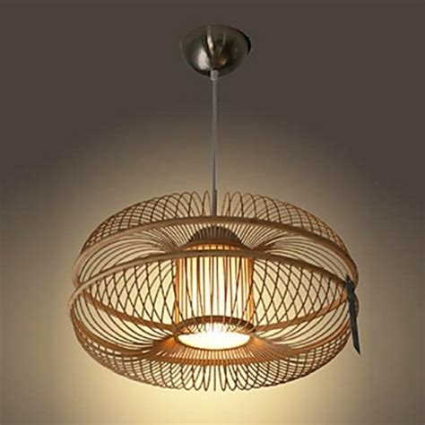 60w modern pendant light in bamboo shade 1 light
