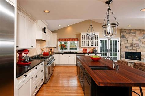 Island Kitchen Designs Layouts by Open Concept Kitchen Dining Room Addition Becomes Hearth