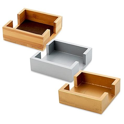bed bath and beyond coasters thirstystone 174 square wood coaster caddy bed bath beyond