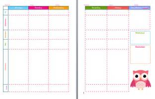 week at glance template calendar template 2016