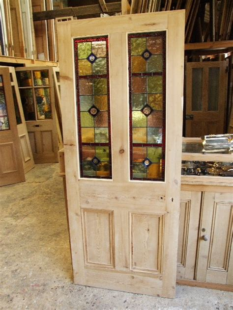 Reclaimed Front Doors Antique Stained Glass Doors For Sale Antique Furniture