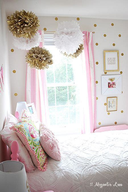 how to decorate a rental bedroom little girl s room decorated in pink white gold easy