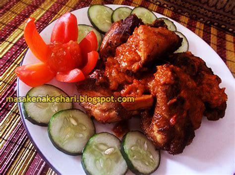 resep ayam bakar spesial pedas bumbu rujak