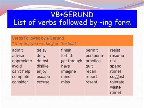 Verb Pattern Of Admit | infinitive vs gerund verb patterns ppt video online download