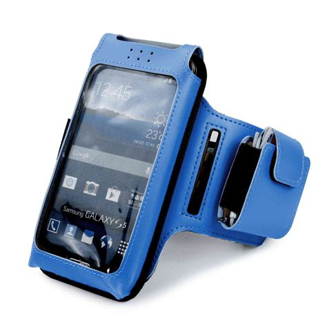 Sport Armband Universal Size M universal armband polyester phone in blue tuff