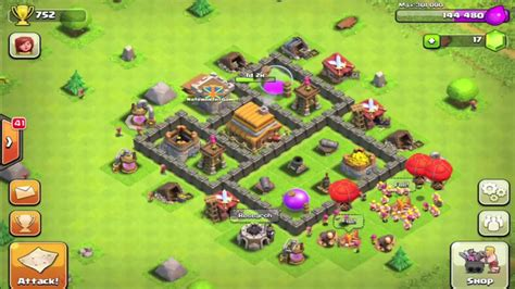 clash of clans layout strategy level 4 town hall 4 defense layout www pixshark com images