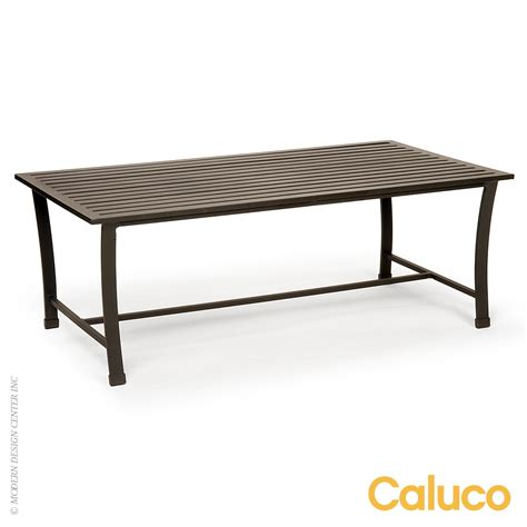 Caluco Patio Furniture San Rectangle Coffee Table Caluco Patio Furniture Metropolitandecor