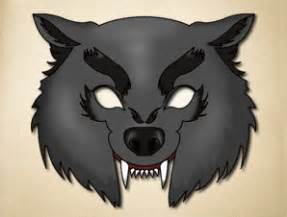 wolf mask template free dangerous knarling wolf printable animal mask the