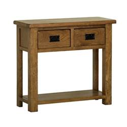Rustic Console Table With Drawers by Rustic Oak 2 Drawer Console Table