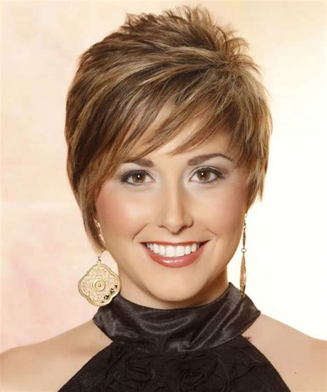 women over 50 funky hair color casual short straight hairstyle front this short funky