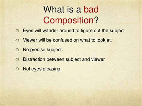 What Is Composition by Photography Composition Presentation