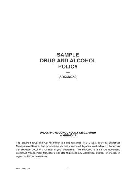 alcohol and drug abuse policy template and policy template 2 free templates in pdf