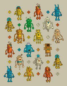 pattern paper montreal tattoo tiny robots kid s fun pinterest robot tattoo