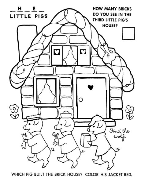 printable coloring pages three little pigs 3 little pigs coloring pages az coloring pages