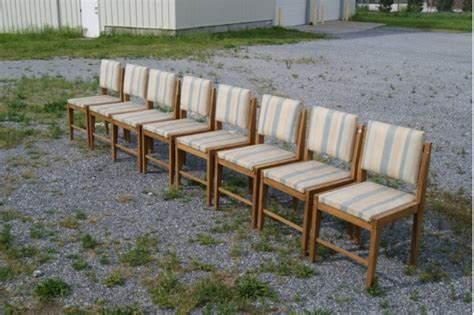 vintage mid century modern 8 italian chairs for sale