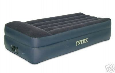 intex comfort bed rising comfort twin airbed  built  electric pump camp stuffs