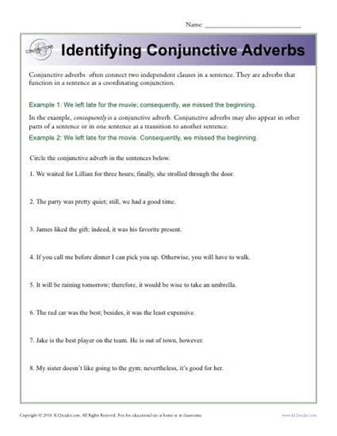 conjunctive adverbs worksheets pdf educational resources gt tag gt adverbs didactalia