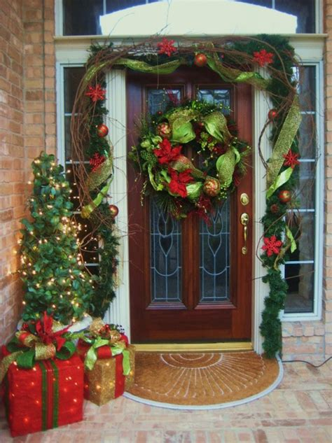 Christmas Front Door Decor | christmas decorations for your front door s t a r d u s t decor style