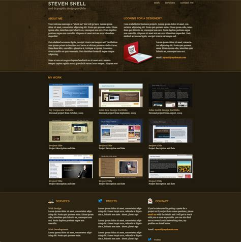 20 unique free psd website templates for business and
