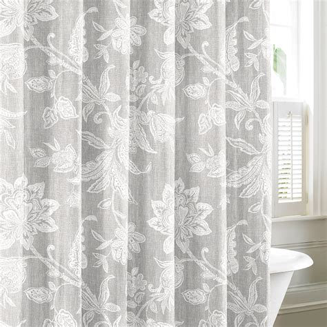 grey shower curtains tommy bahama bali gray shower curtain from beddingstyle com