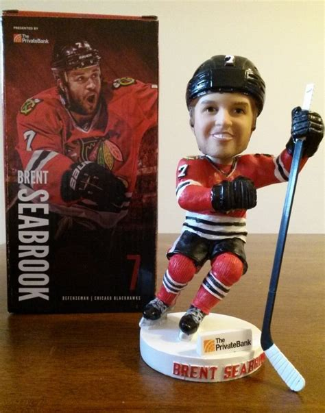 Blackhawks Giveaways 2017 2018 - december 14 2014 chicago blackhawks brent seabrook bobblehead