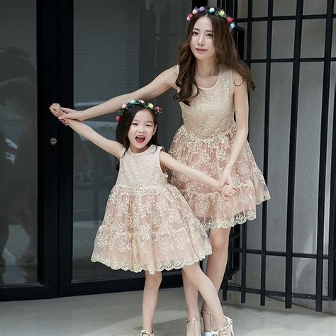mother and daughter matching dress high quality fashion mother daughter matching dresses lace