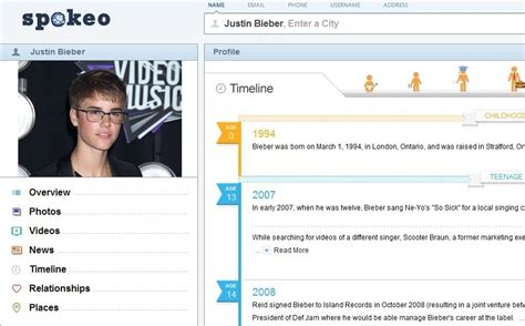 justin bieber biography timeline life story spokeo s famous person timeline 171 spokeo