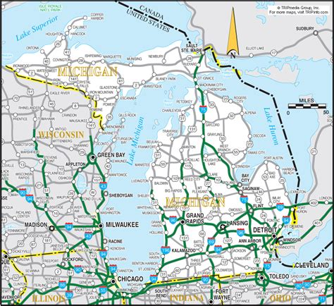 printable road maps of michigan michigan map