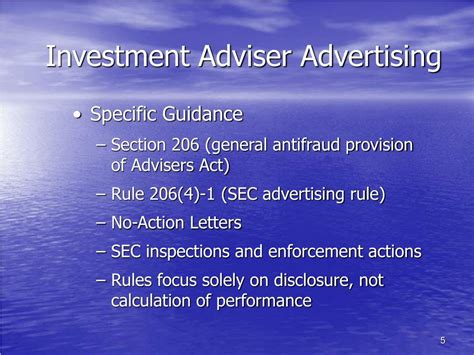 Investment Advisers Act Section 206 by Ppt Highlights Of Investment Adviser Advertising And Marketing Powerpoint Presentation Id 169213