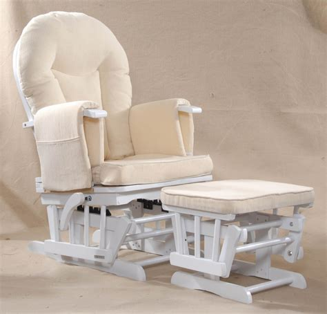 sereno natural wood  white nursing glider maternity rocking chair srp ebay