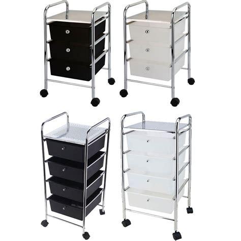 cheap 3 drawer storage 3 4 tier drawer trolley black white portable storage