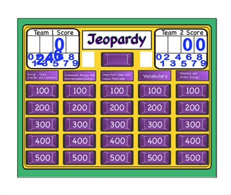 Sle Jeopardy Game Template 6 Download Documents In Jeopardy Template Free