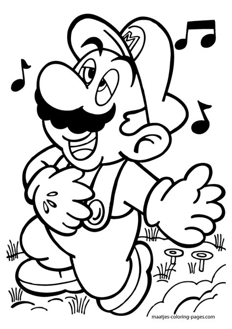 paper mario coloring pages photograph super mario singing