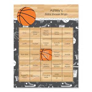 basketball baby shower bingo 16 unique personalized gift