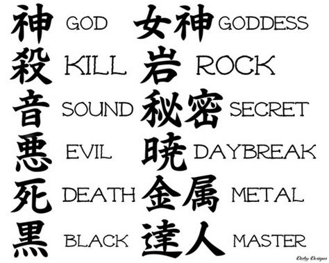 tattoo font design kanji lettering fonts meanings