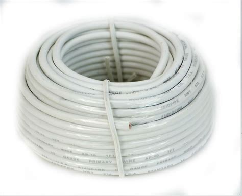 what color is ground wire 10 ga 50 ft rolls primary auto remote power ground